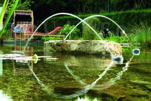 Kerti tó webáruház - OASE Water Jet Lightning vizijáték